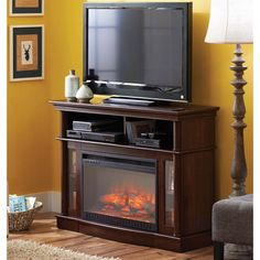Better Homes and Gardens Media Electric Fireplace Ashwood Road, Brown