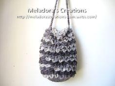 Crocodile Stitch Draw Bag – Free Crochet Pattern