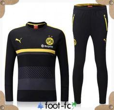 Nouveau Kit Survetement de foot Dortmund BVB Noir 2016 2017