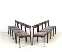 """1.430 €: Jogo de oito cadeiras """"vintage"""", da década de 1960, de origem nórdica.  Altura: 77 cm  Vendemos para todas as zonas do país, incluindo ilhas, o preço inclui o restauro e pode incluir também a entr..."""