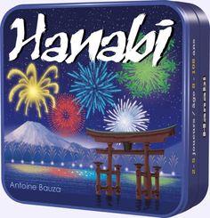 Hanabi est un jeu coopératif où les joueurs doivent fabriquer un feu d'artifice à partir de cartes de valeurs et de couleurs différentes. L'originalité d'Hanabi est que chaque joueur doit tenir ses cartes à l'envers, de manière à ce que seuls ses compagnons de jeu les voient. Par un dialogue limité par la règle du jeu, les joueurs devront se donner des indications pour poser les cartes dans la bonne séquence.