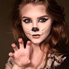 Most basic Halloween costume  #halloweenmakeup #halloween #makeup #mua #makeupartist #cat #kittycat #catsofinstagram #blackcat #nyxcosmetics #nyx #tarte #shapetape #basic #stila #benefitcosmetics #benefit #happyhalloween