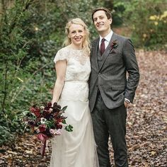 Alexa & Dan's autumnal wedding on @lovemydress today.  by @kat_hill_photo.  Alexa wanted rich masala tones golden flashes and lovely long ribbons. Wearing the @halfpennylondon Iris dress with accessories from our friends @alexmonroejewellery. Buttonholes were a berried affair... #wedding #weddingflowers #weddingflorist #weddinginspiration #weddingday #realwedding #weddingblog #londonflorist #londonwedding #autumnwedding #luxuryflorist #flowerstagram #eastlondon #floral #inthewoods…
