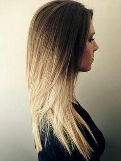 Gorgeous honey ombre hair!
