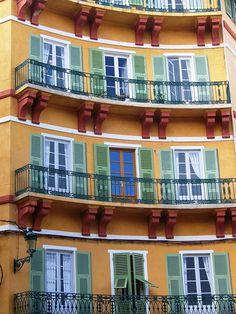 ♕ | Trompe l'oeil façade - Bastia on Corsica | by © Solea20