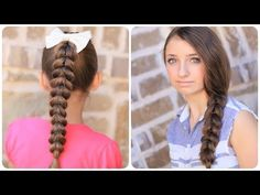 ▶ How to create a Pull-Through Braid | Easy Braided Hairstyles - YouTube