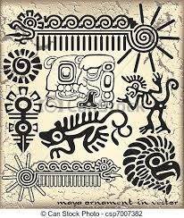 Ornament in style of the maya. Aztec Art, Ancient Symbols, Indigenous Art, Native Art, Tribal Art, Art, Ancient Art, Mayan Art, Hieroglyphics
