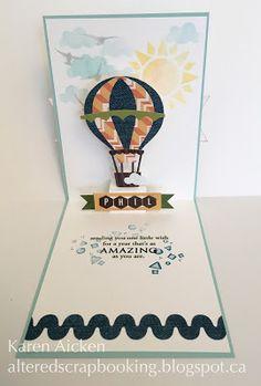 Hot Air Balloon Pop-Up Birthday Card