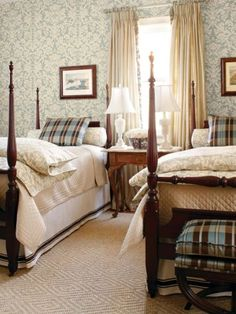 Vintage French Soul ~ those twin beds…