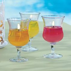 Happy Hour Votive Trio by PartyLite® Candles! Super cute and think of all the uses for the glasses when the candle is done!?!