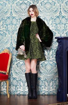 Military Green Fur Coat Fashion Trend for Fall Winter 2013  Alice & Olivia F/W 2013