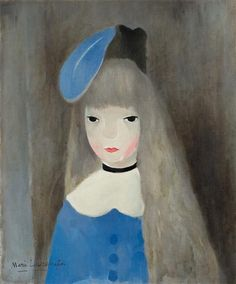 Marie Laurencin, A girl with a blue ribbon