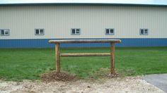 Hitching rail for around round pen Horse Barn Plans, Hitching Post, Round Pen, Horse Games, Horse Ranch, Dream Barn, Backyard Farming, Barrel Racing, New Details