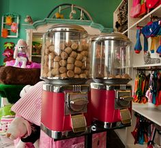Cute idea wen visitors want to give dogs a treat and also are giving a little money