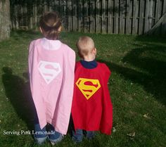 free templates for superhero capes: Superman, Supergirl, Batman and royal crown