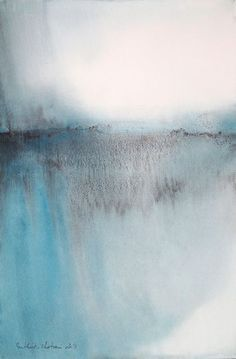 MURIEL BUTHIER-CHARTRAINNordic feelings - aquarelle de 2014 - 37 x 55 cm
