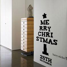 テキストツリー #ウォールステッカー#クリスマス#サンタクロース#サンタ#ツリー #SantaClaus#Christmas#tree#wallsticker