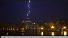 The photographer was able to capture a lightning strike on the Vatican.