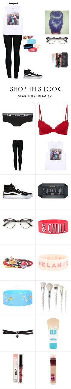 """""""I love The Breakfast Club"""" by thelovelye ❤ liked on Polyvore featuring Victoria's Secret PINK, 2LUV, Vans, Kat Von D, ZeroUV, Nintendo, Unicorn Lashes, Fallon and Maybelline"""