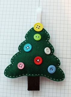 Felt Christmas Tree Ornament by StampandScrap on Etsy, $4.00 Would be easy to make.