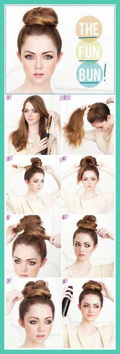 messy bun!!! Wish my buns were like this!!!