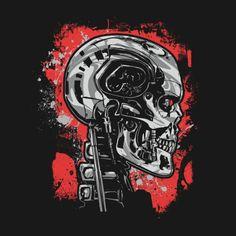 Check out this awesome 'T2+Endoskeleton+Terminator' design on TeePublic!