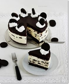 Oreo Cake, Oreo Cookies, Chocolate Desserts, Yummy Cakes, Sweet Treats, Food And Drink, Candy, Baking, Recipes