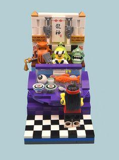 Lego Ninjago City, Lego City, Lego Furniture, Minecraft Furniture, Furniture Ideas, Lego Hospital, Lego Food, Lego Ww2, Lego Creative