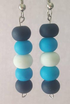 Check out this item in my Etsy shop https://www.etsy.com/listing/471286828/blue-ombre-beaded-earrings-handmade