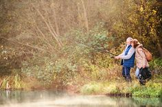 Senior couple fishing at the lake in autumn. photo by halfpoint on Envato Elements Best Hiking Backpacks, Fishing Magazines, Rod And Reel, Photography For Beginners, Backpacking, Autumn, Stock Photos, Landscape, Couple Photos