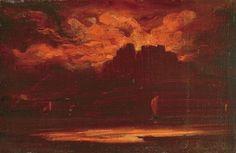 Lajos Gulácsy (Hungarian, 1882-1932), Purple clouds