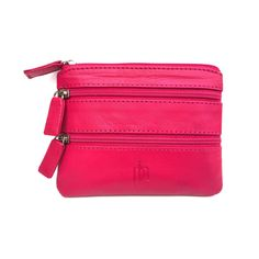 Prime Hide Quality Soft Leather 3 Zips Coin Purse In Berry 751  #love #style #apple #us #fresh #best #pretty #food #delicious #statigram