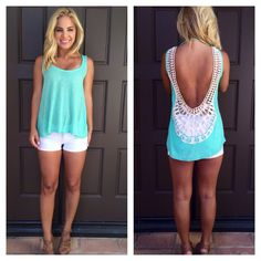 Diva at the Beach Tank - MINT from Dainty Hooligan. Shop more products from Dainty Hooligan on Wanelo. Outfits 2014, Summer Outfits, Cute Outfits, Fashion Outfits, Womens Fashion, Boutique Clothing, Fashion Boutique, Online Clothing Boutiques, Swagg