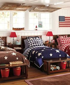Merveilleux Decorating With Color: Red, White And Blue   Boys Room Decorated In Red,