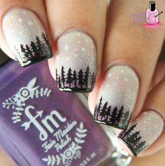 Зимний маникюр, лес
