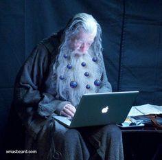 Gendalf, your Beard Won't Be Fully Festive This Season If It Doesn't Have Beard Decorations   #XmasBeard #Beard #MerryChristmas #Funny