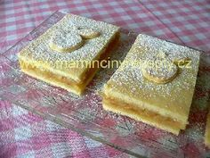 Jablkové řezy Czech Recipes, Something Sweet, Apple Pie, Baked Goods, Waffles, Cheesecake, Goodies, Sweets, Homemade