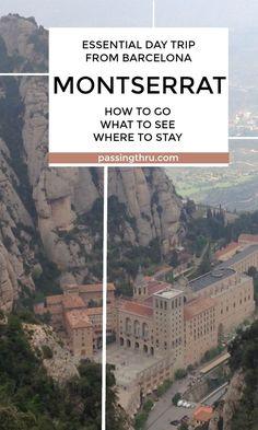 Day trip from Barcelona (Spain) to Montserrat #travel #spain #catalunya