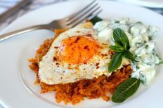 Who wouldn't like breakfast like this? Paleo sweet potato rosti with egg.