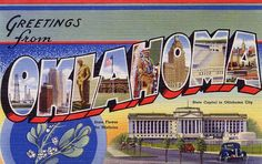 Greetings from Oklahoma - Large Letter Postcard by Shook Photos, via Flickr