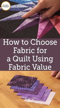 Heather Thomas provides essential tips for choosing fabrics for your quilts by using fabric value. Understand the importance of fabric value and how it is relative. See how the value of fabric can impact the quality of your finished quilt. Use these helpful tips to choose the right fabric for your beautiful quilts.