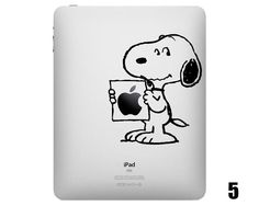 Must have! Five Cute Snoopy iPad Decals |Gadgetsin