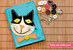 felt cat sewing kit