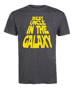 Heather Charcoal 'Uncle in the Galaxy' Tee - Men's Regular & Big #zulily #zulilyfinds