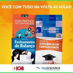 #DicaCia A IOB é referência em livros técnicos! Trazemos uma Vitrine especial da Editora para você! ;-) 8-) Os estudos estão em alta em nossa Livraria Universitária!!! Confira! -> http://goo.gl/0zAy4t