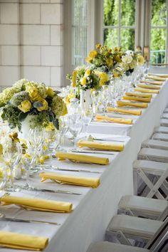 2015 custard yellow wedding tabletop wedding decor