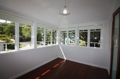 Sunroom, Study, Aluminium Casement Windows. Hardwood polished floor.