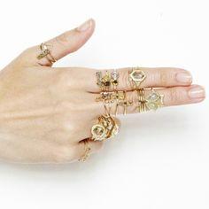 golden gun...rings by xiao wang