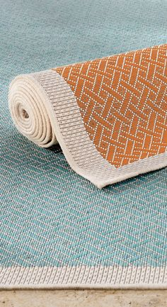 Offset by a contrasting, interweaving stitch and defined trim, our two-tone Cayman Outdoor Rug instantly transforms living spaces into a relaxing sanctuary of decadent pastels.  | Frontgate: Live Beautifully Outdoors