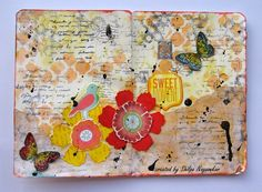 Neon Diary: Flower Journal pages